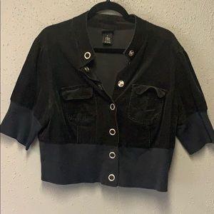Torrid cropped corduroy jacket